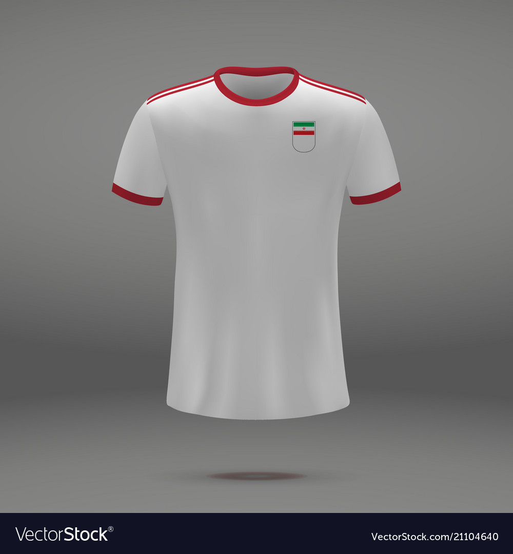 9874e2503 Football kit of iran Royalty Free Vector Image