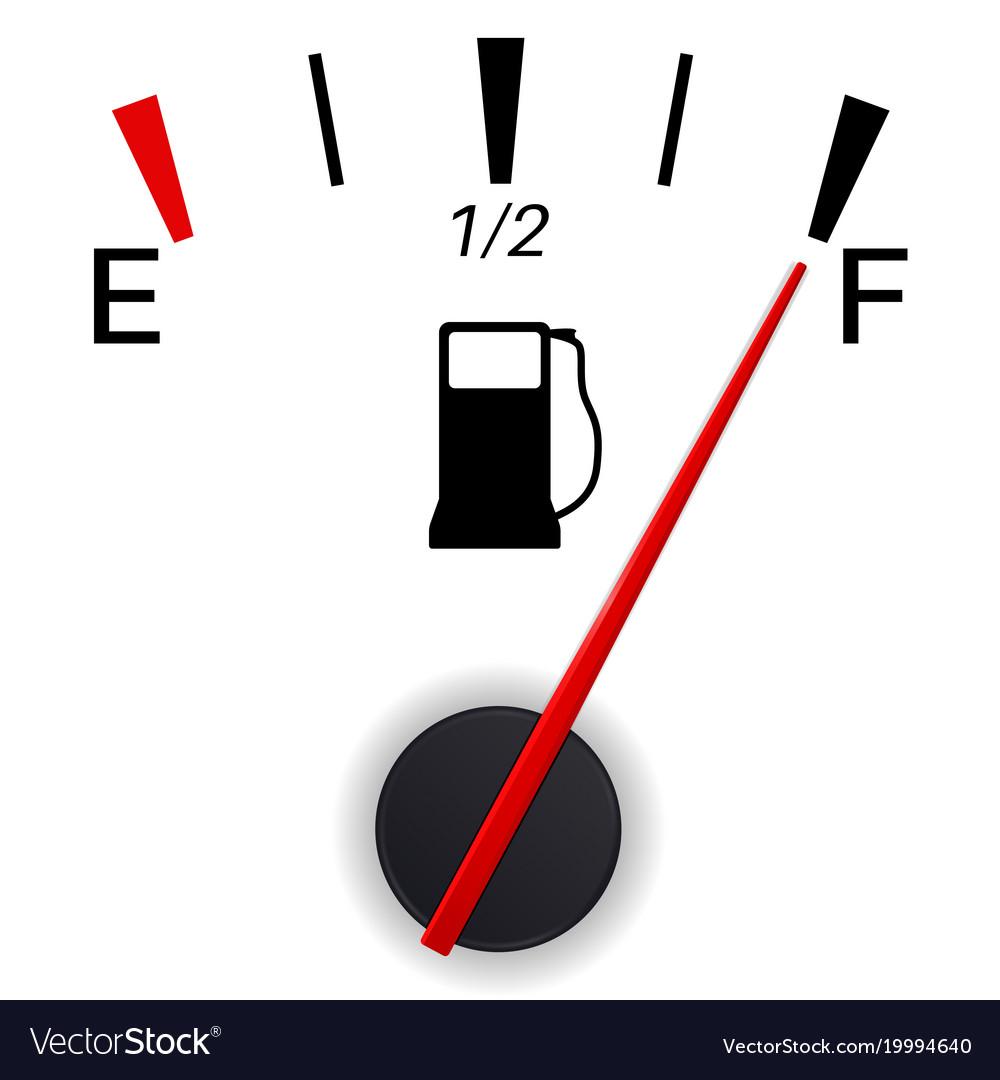 Fuel gauge indication full tank