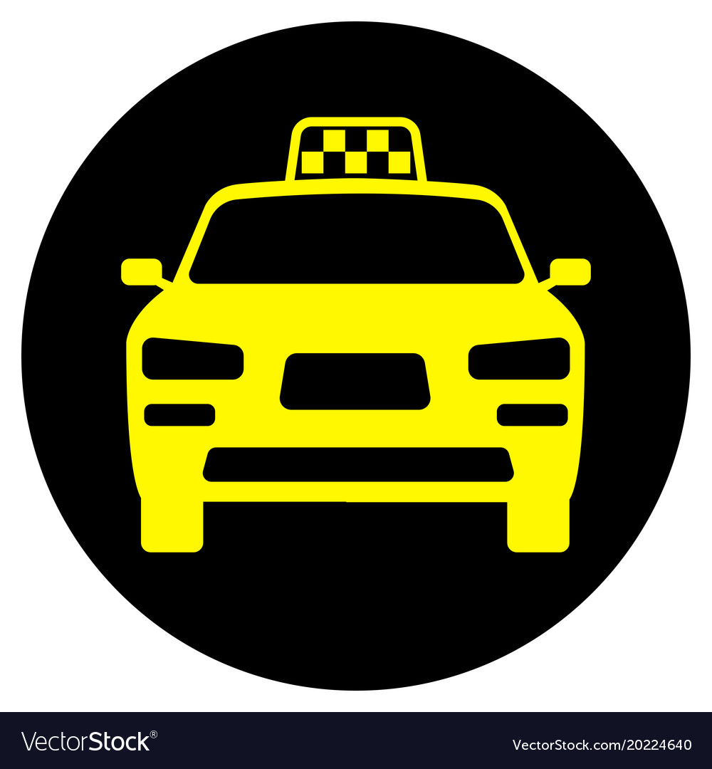 Icon with the image of a taxi car