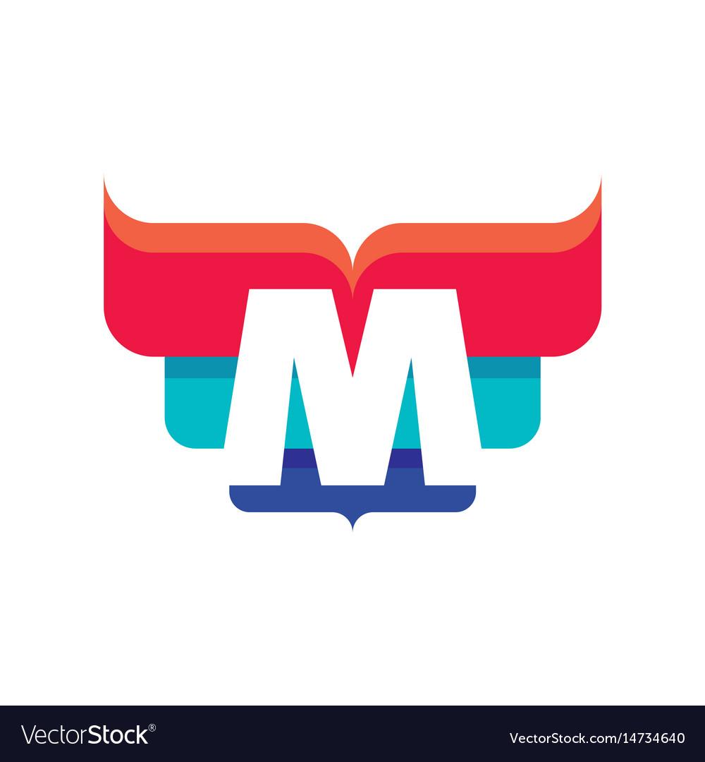 M letter business logo template
