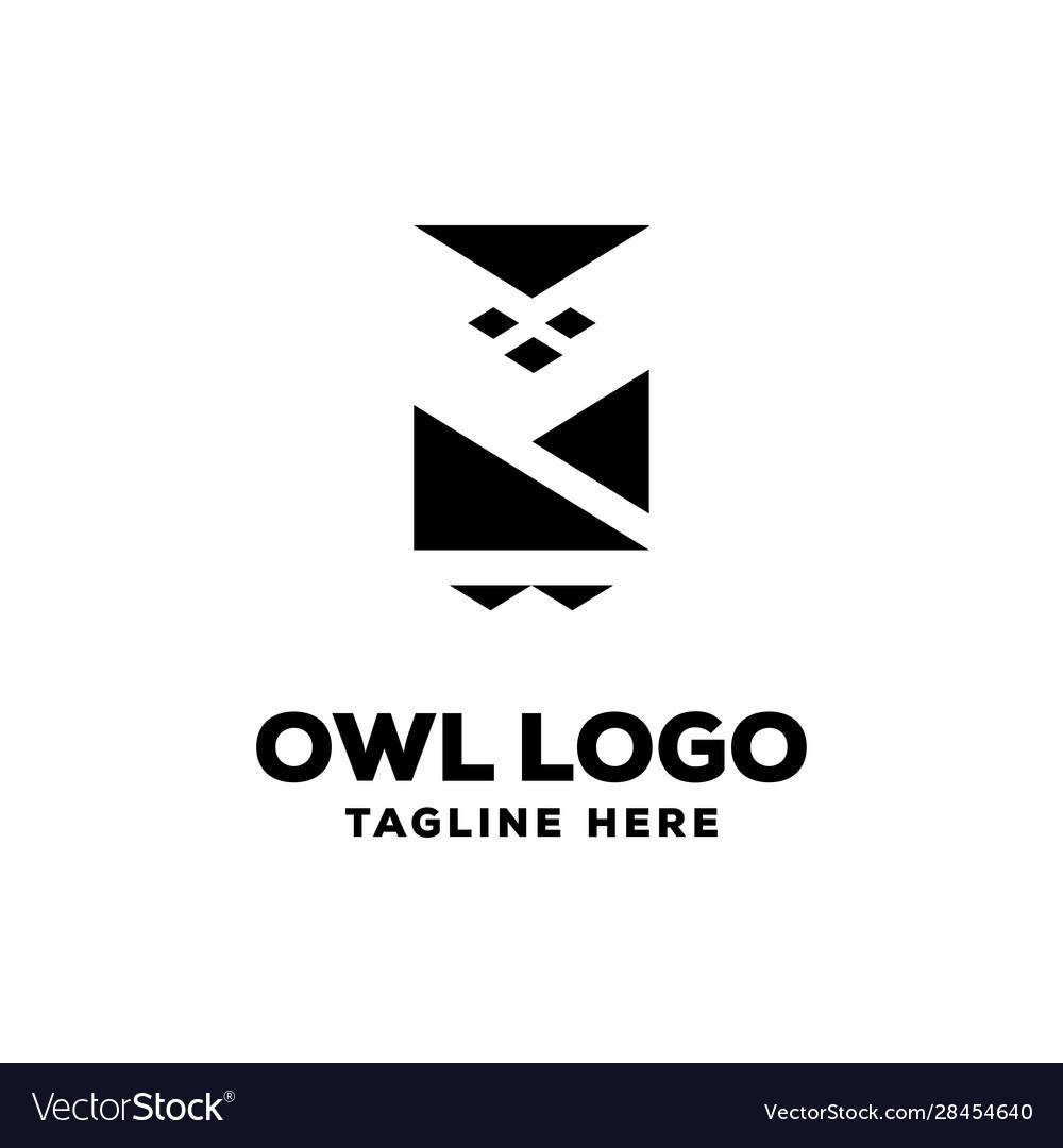 Owl logo design template