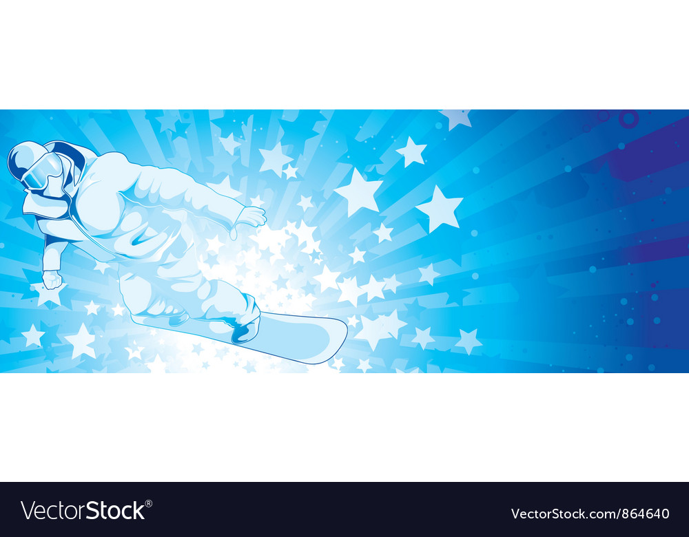 Snowboarder with stars