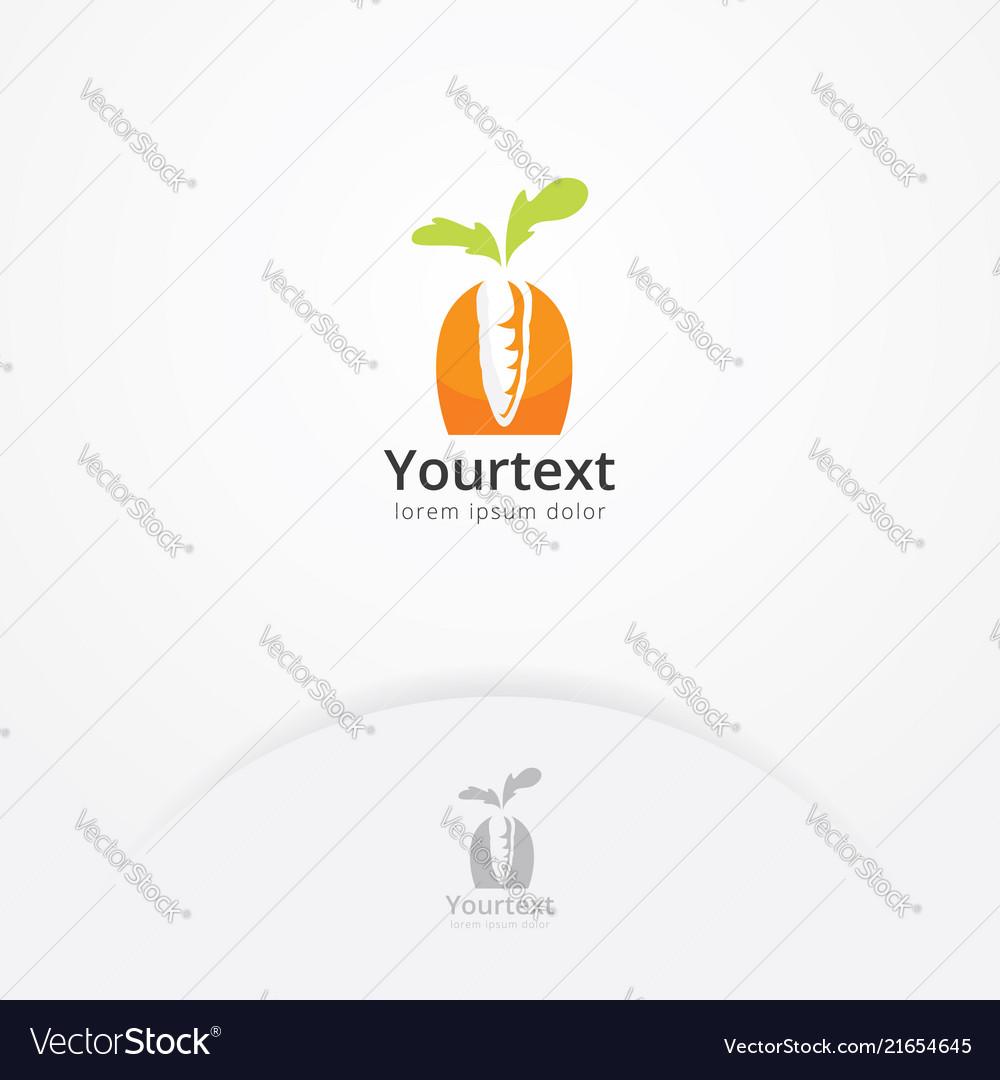 Carrot vegetable logo design