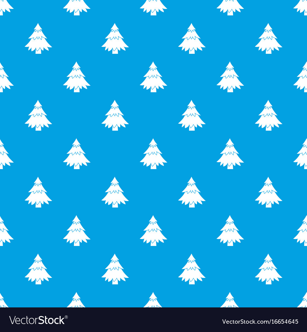 Coniferous tree pattern seamless blue