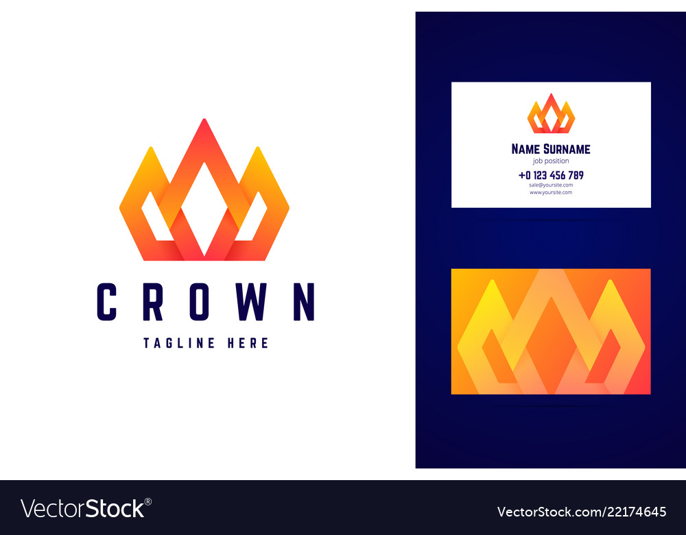 Crown royal logo and business card template