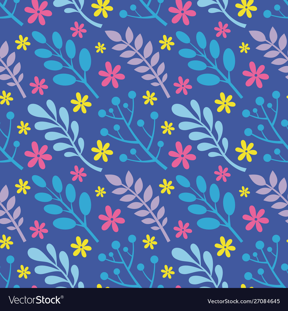 Leaves flowers berries plants - creative vector