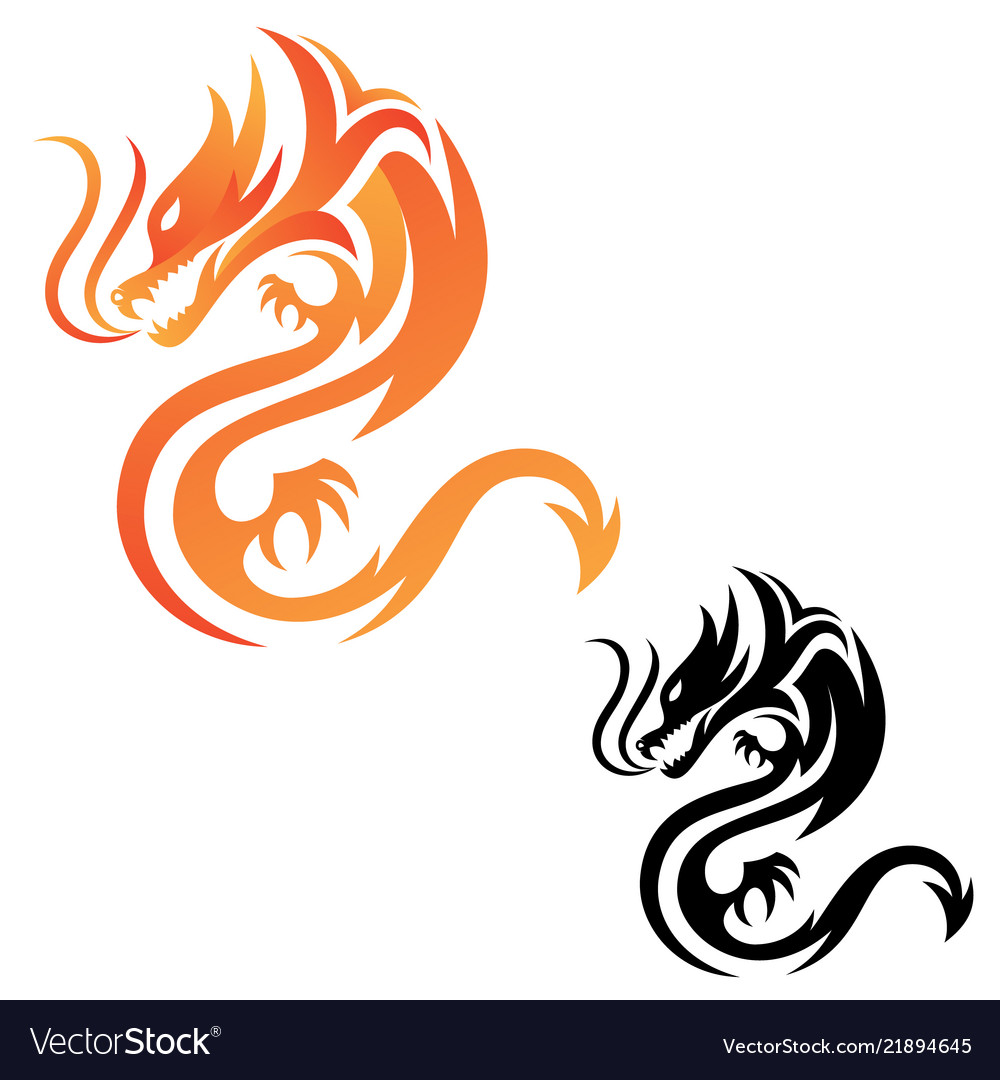 Tribal dragon fire