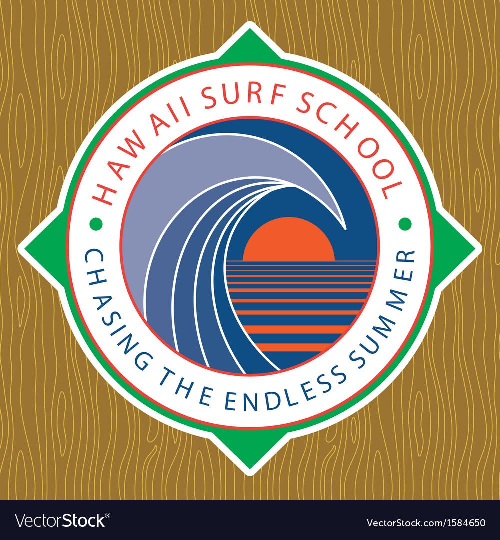 Classic Surf Logo vector image