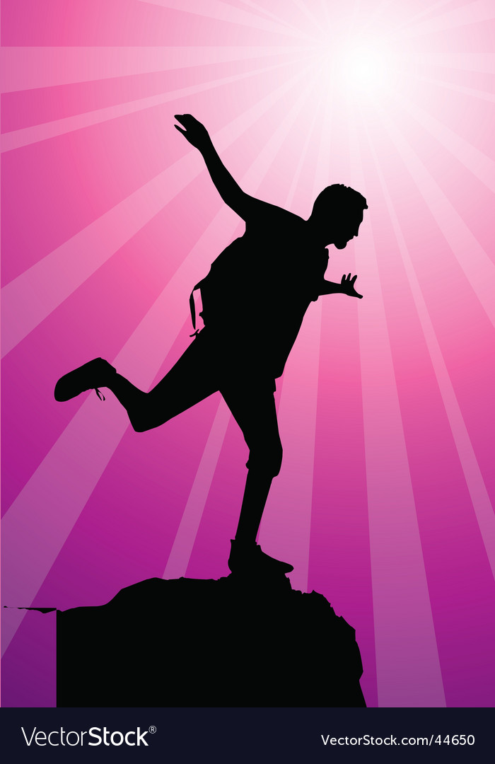 Climber silhouette vector image