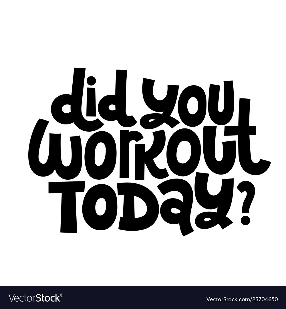 Fitness Motivational Quotes Royalty Free Vector Image
