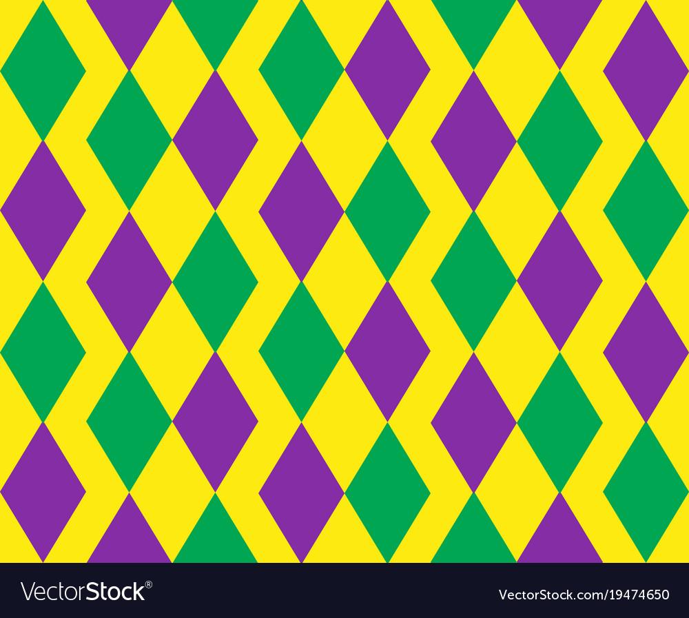 Mardi gras abstract geometric pattern purple