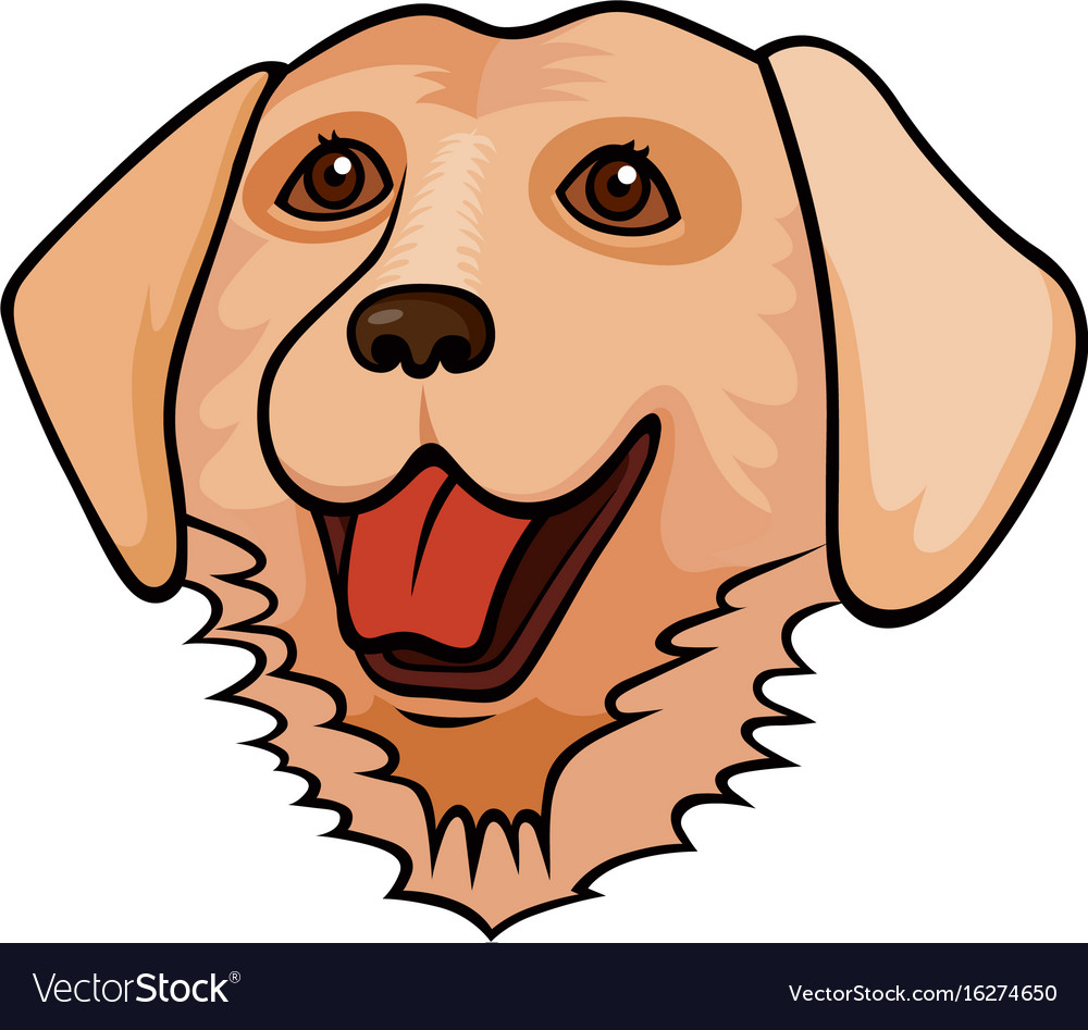 Pop art style dog sticker vector image