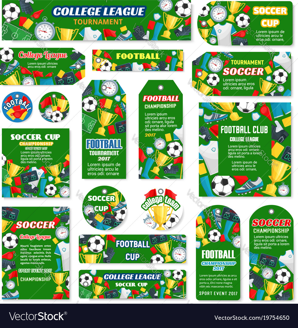 posters for football or soccer game royalty free vector