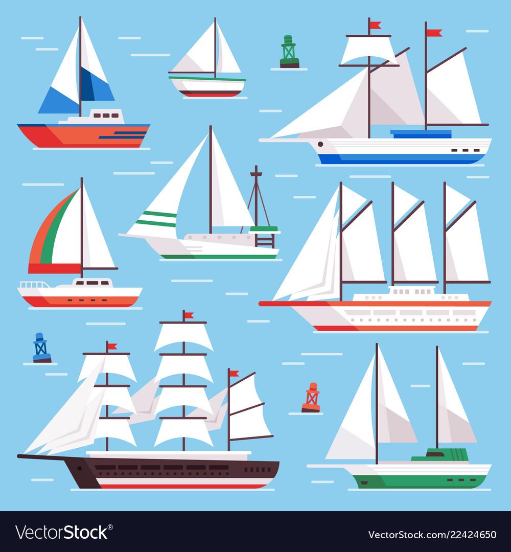 Sail boat transportation sailboat for water