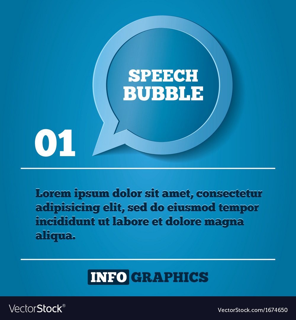 Speech bubble step background For infographics