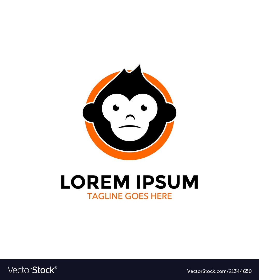 Unique monkey logo template