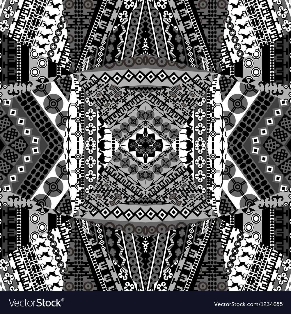 Background with mosaic of African black and white