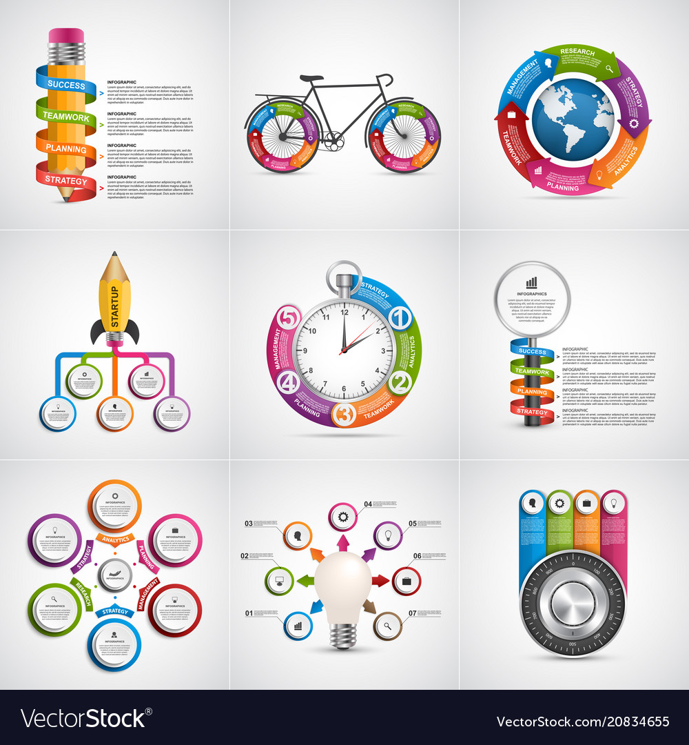 Big collection infographics design elements