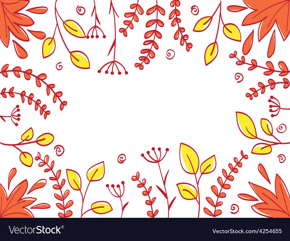 Floral abstract frame vector image