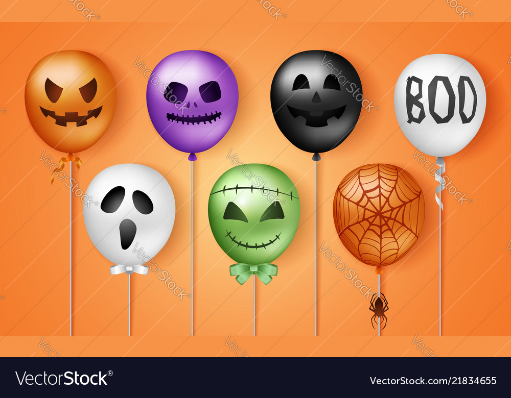 Halloween 3d balloons scary air balloons in