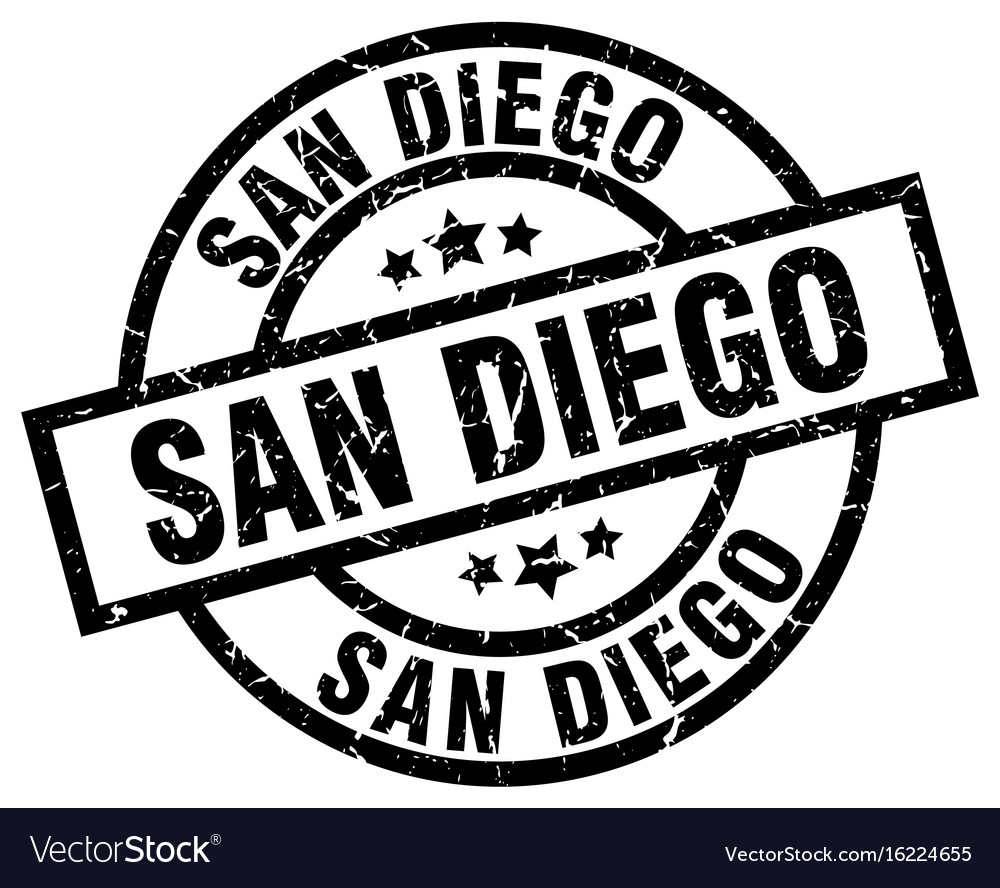 San diego black round grunge stamp