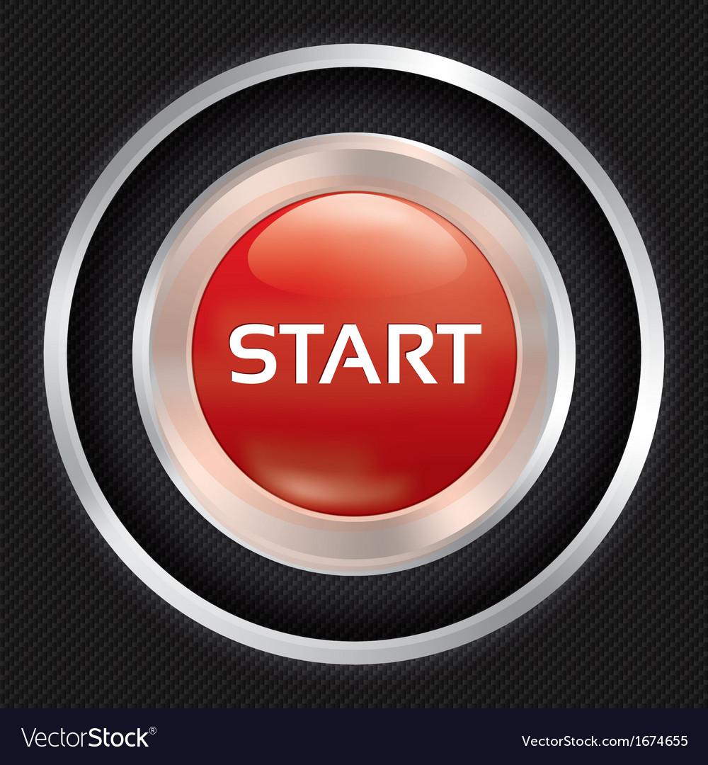 Start button on Carbon fiber background