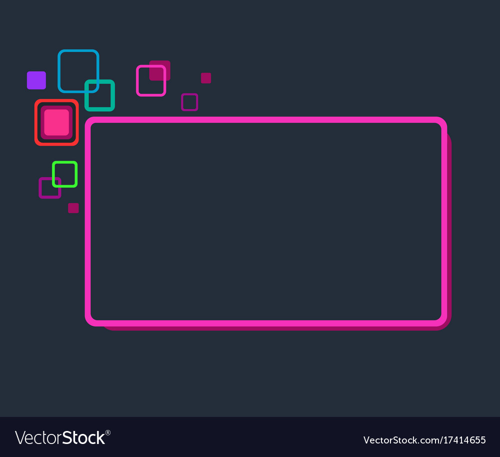 Stylized abstract frame