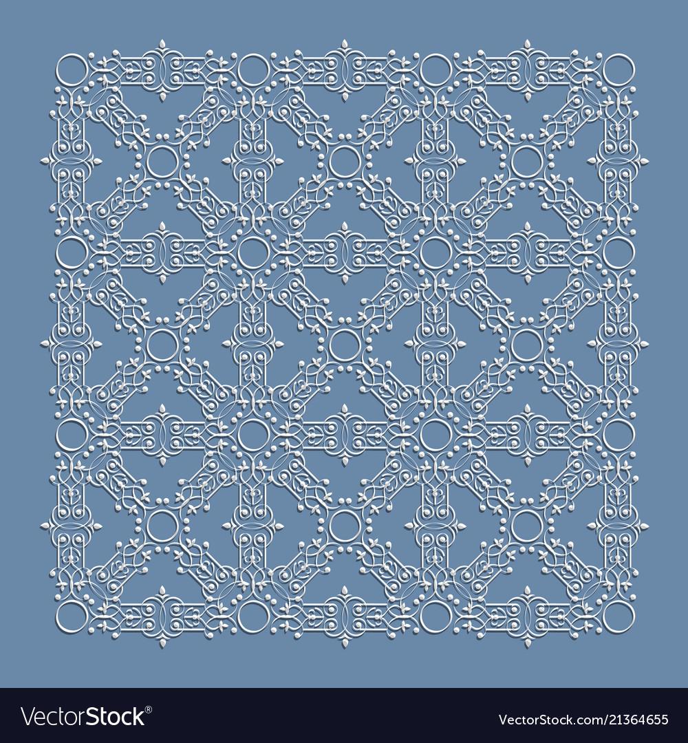 Vintage decorative element in islamic arabic