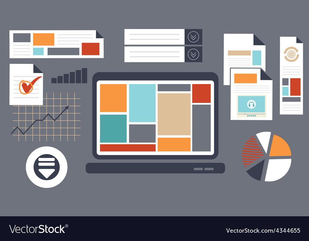 Web design2 resize vector image