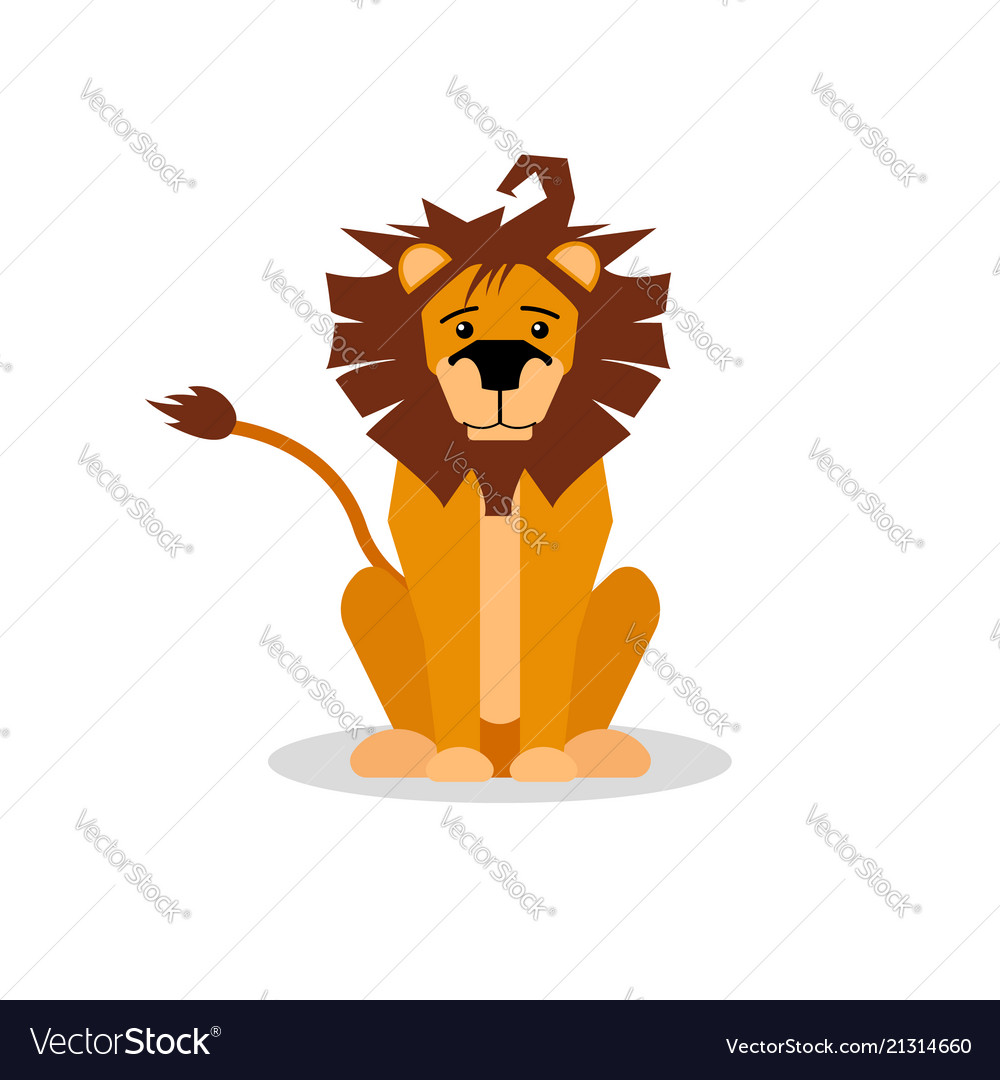A cartoon of a friendly lion