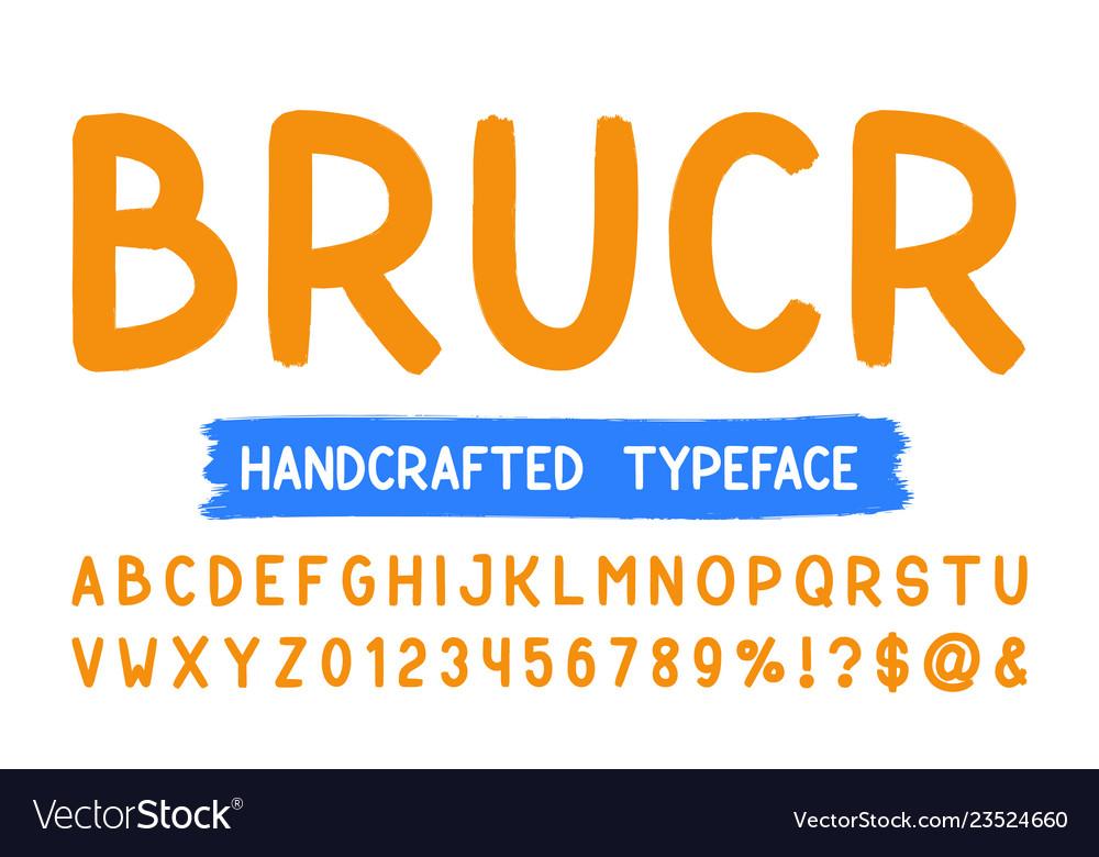Bold brush sans serif font hand drawn artistic