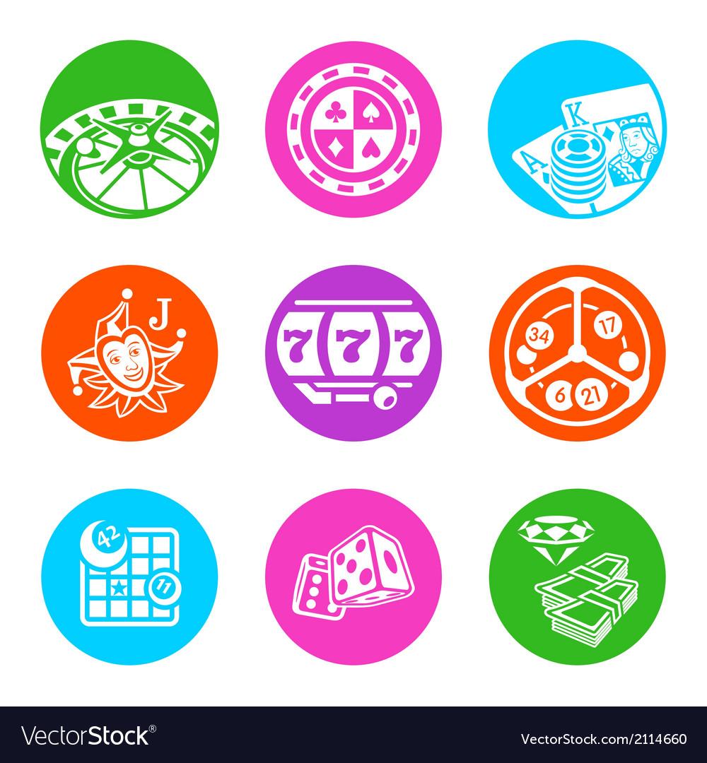 Casino metro icons vector image