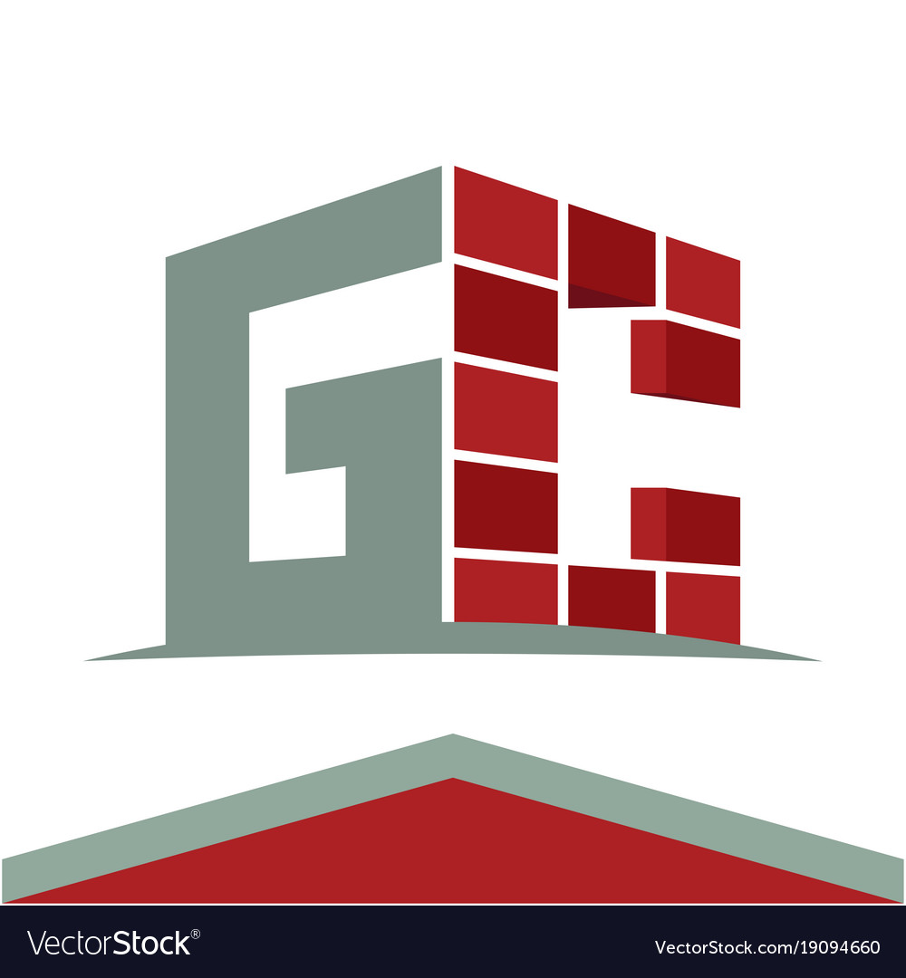 Construction business logo with the initials