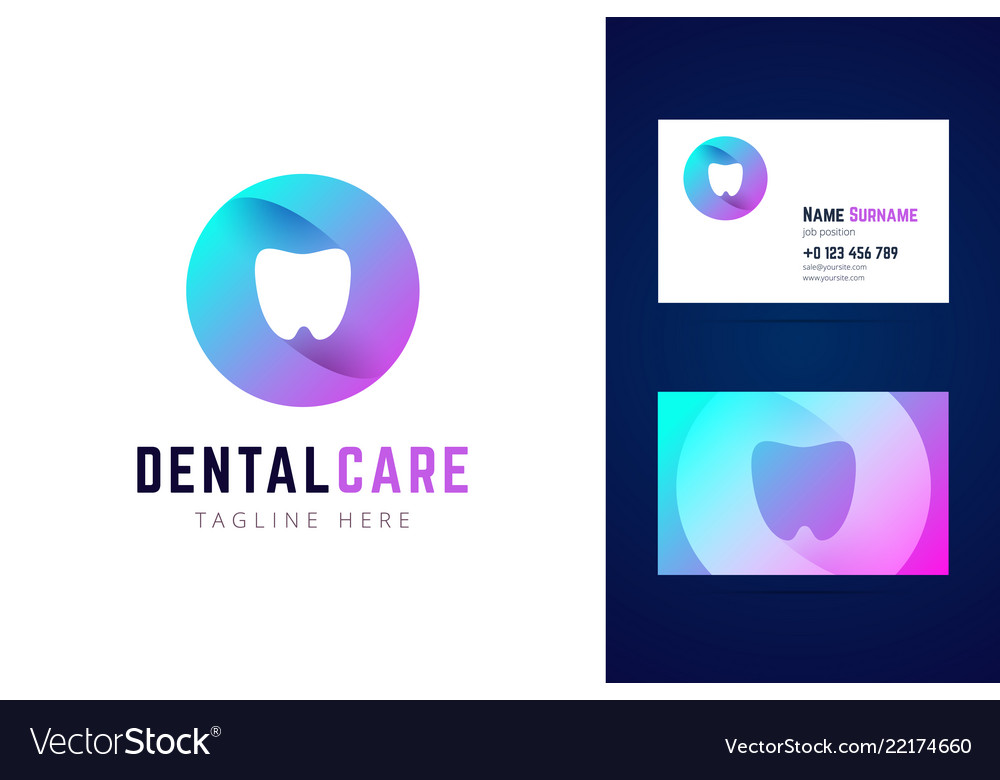 Dental stomatologic logo and business card