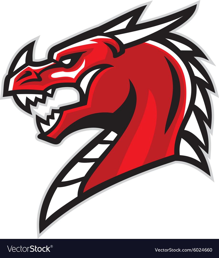 dragon head mascot royalty free vector image vectorstock