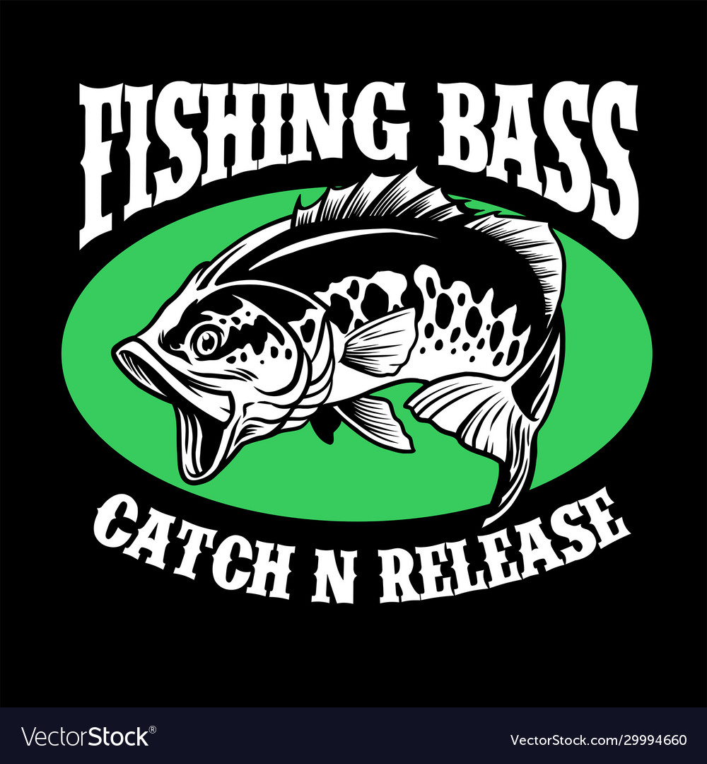 Fishing shirt design largemouth bass fish