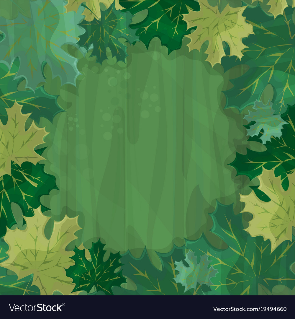 Frame for text decoration enchanted forest with