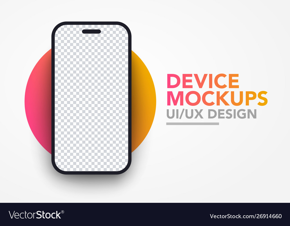 Modern blank smartphone screen mockup template vector