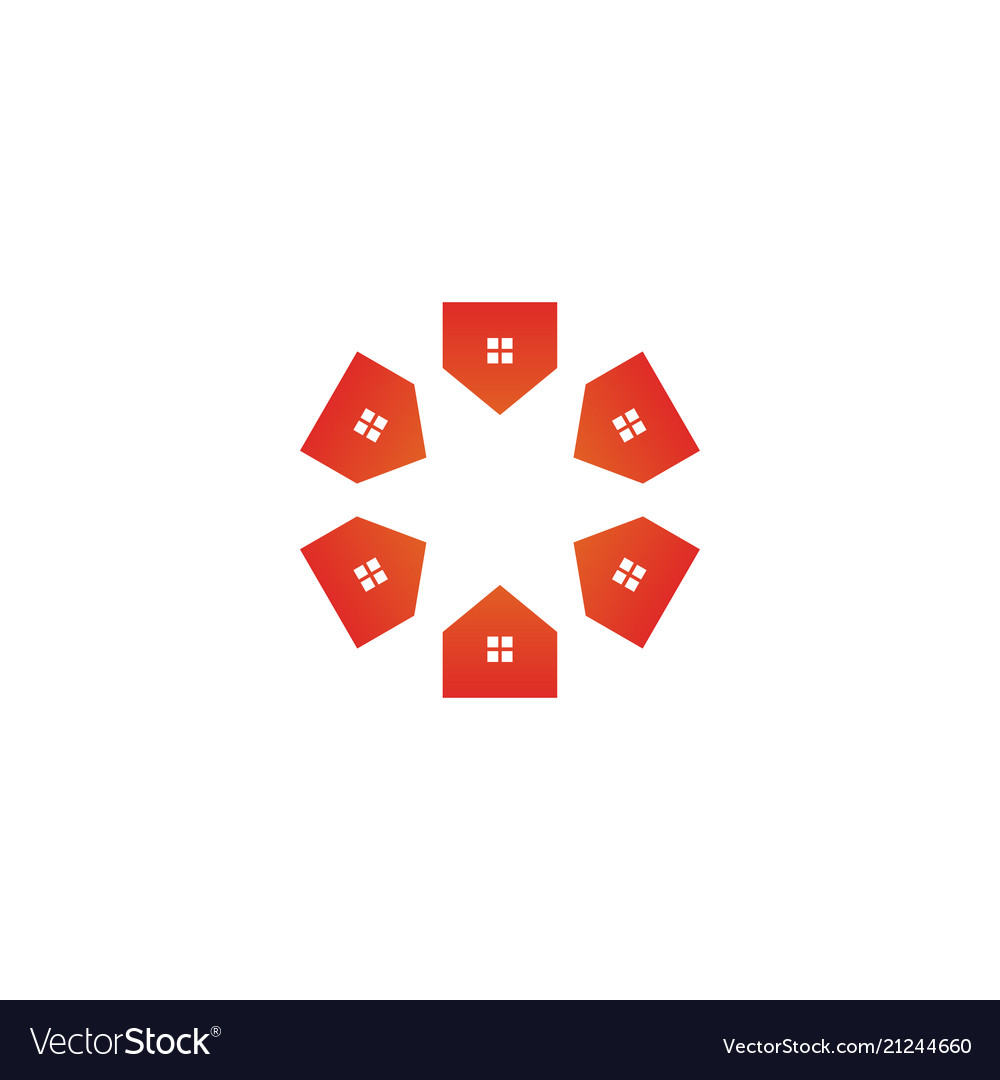 Real estate group community logo design concept