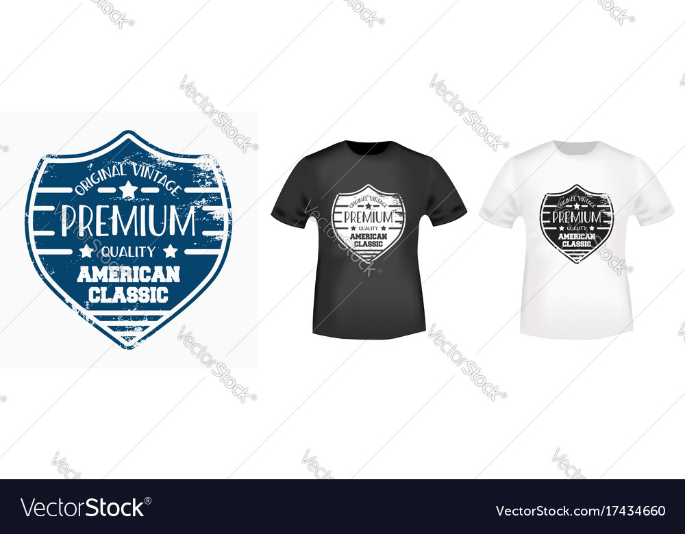 T-shirt print vintage design