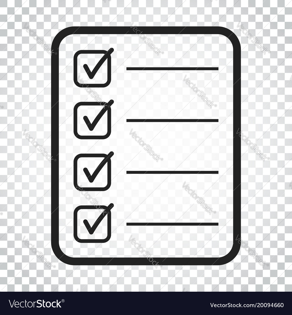 to do list icon checklist task list in flat style vector image