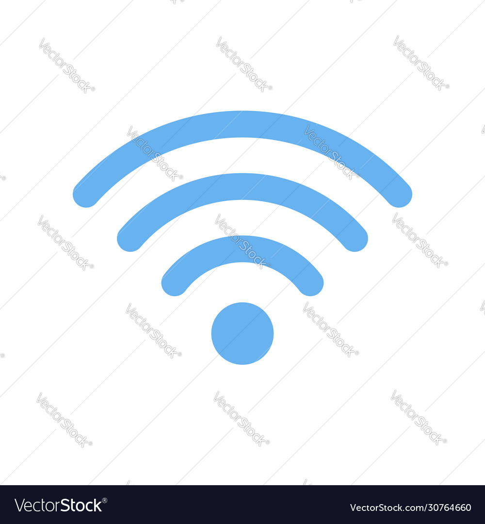 Wi-fi symbol icon isolated on white background
