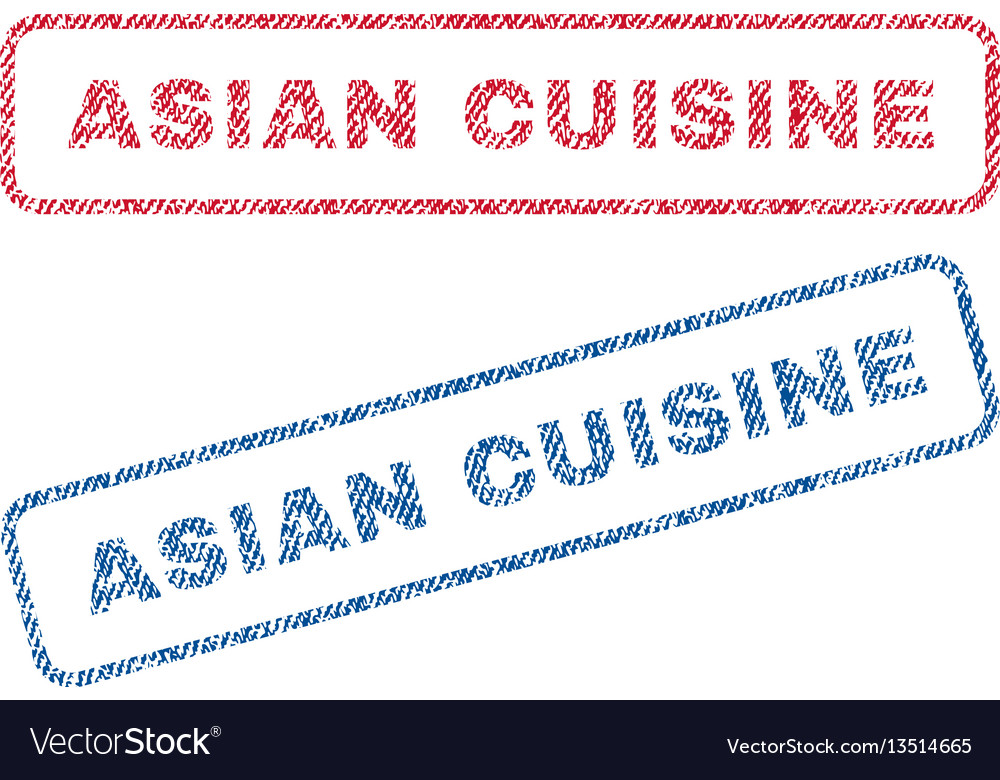 Asian cuisine textile stamps