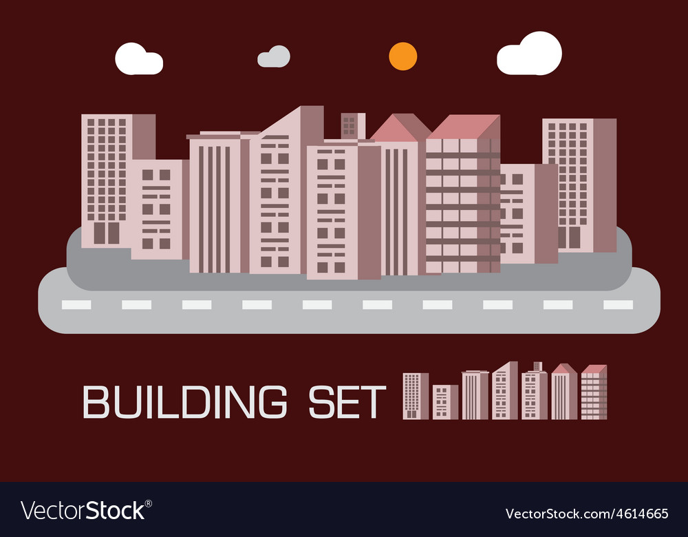 Building set red tone concept