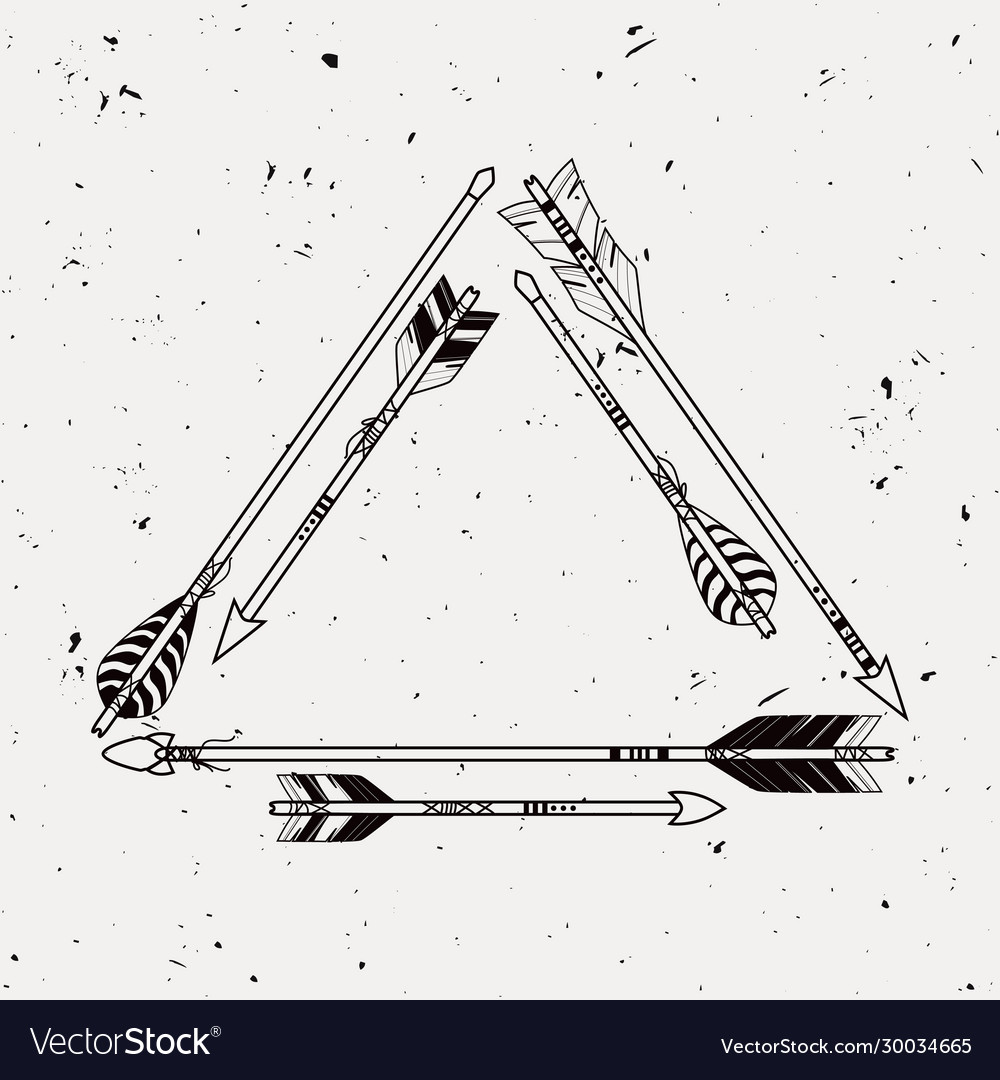 Tribal frame with ethnic arrows american indian