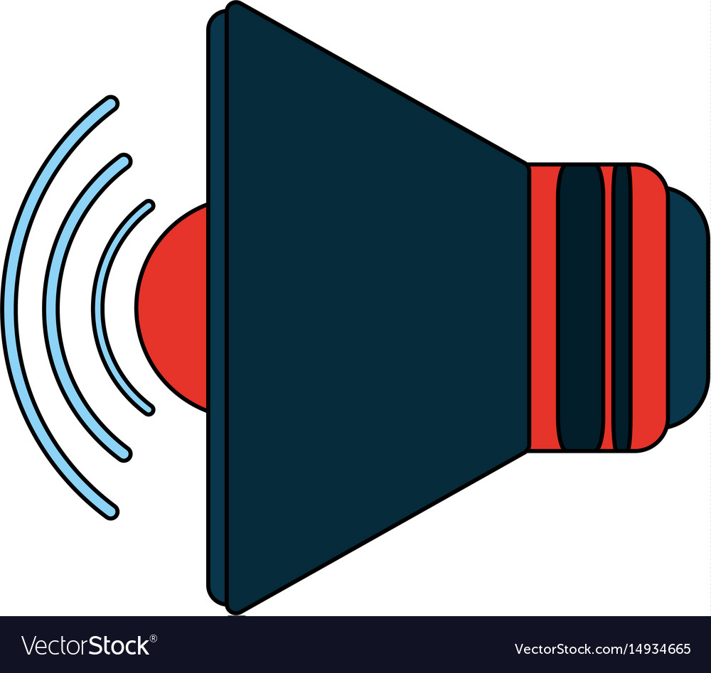 White background with volume icon vector image