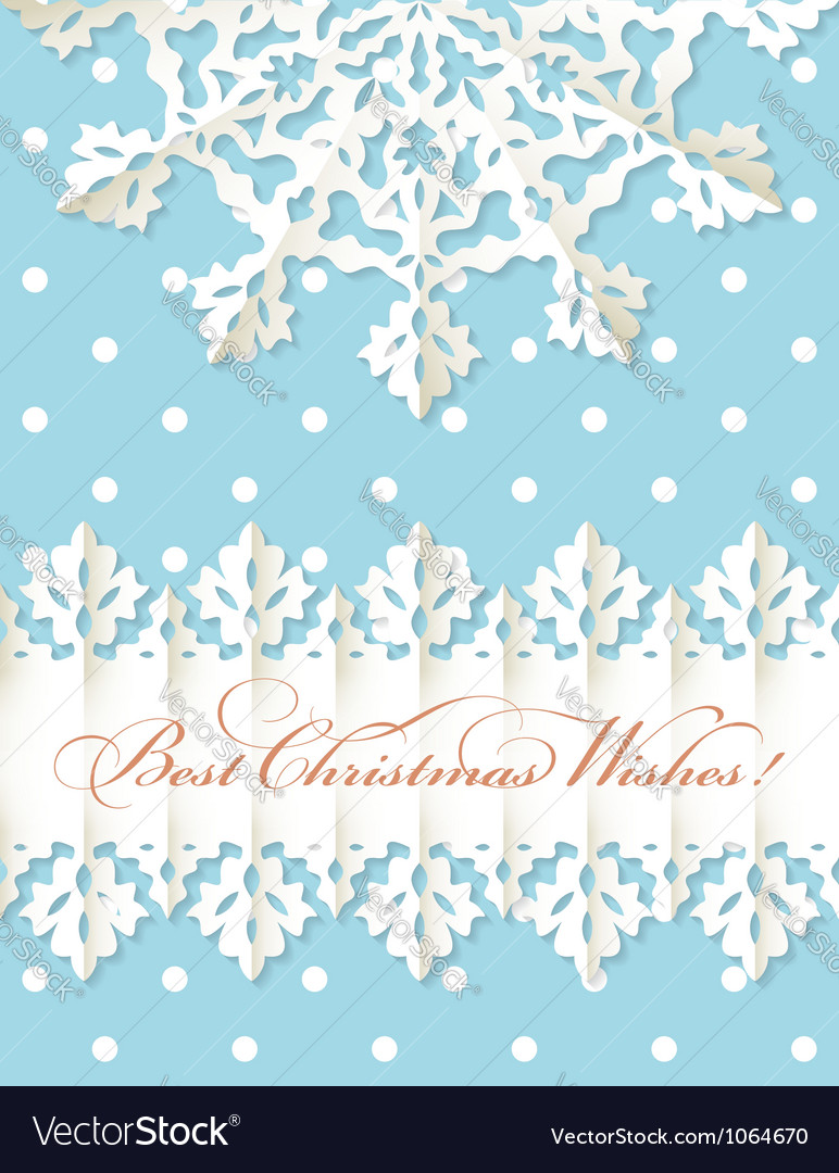 Christmas origami snowflake background