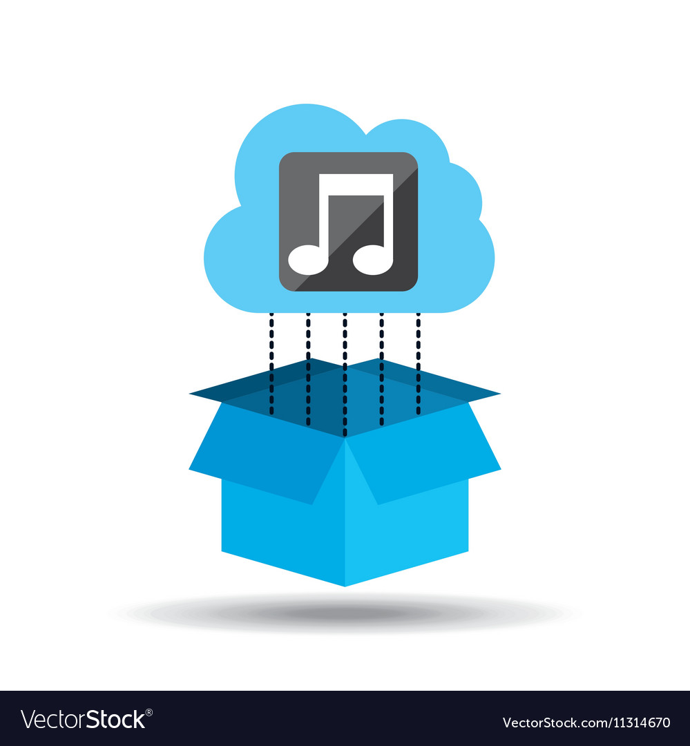 Cloud music download connected design