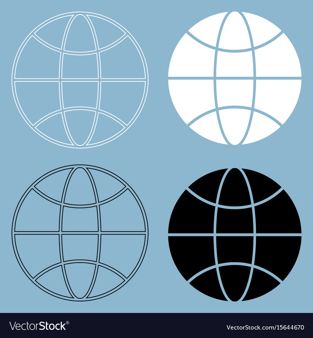 Globe the black and white color icon vector image