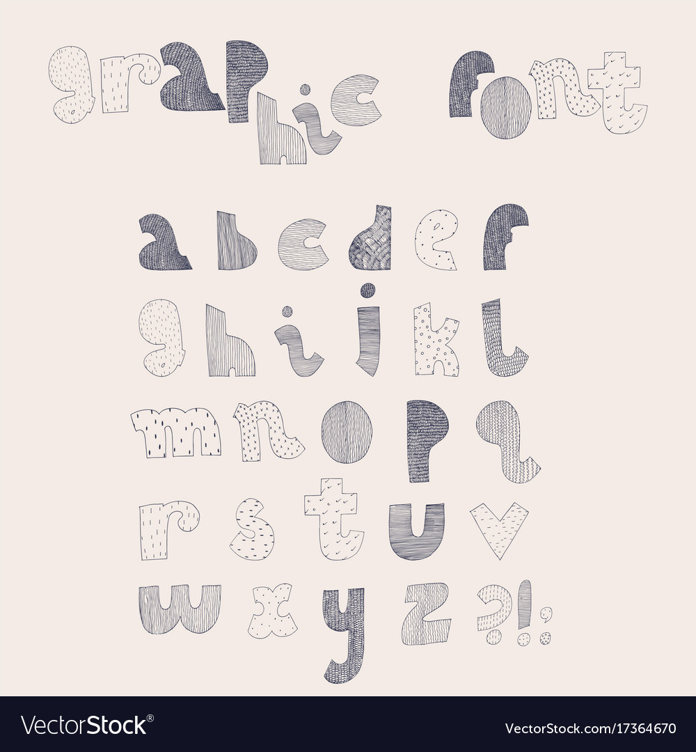 Hand drawn alphabet letters sequence from vector image